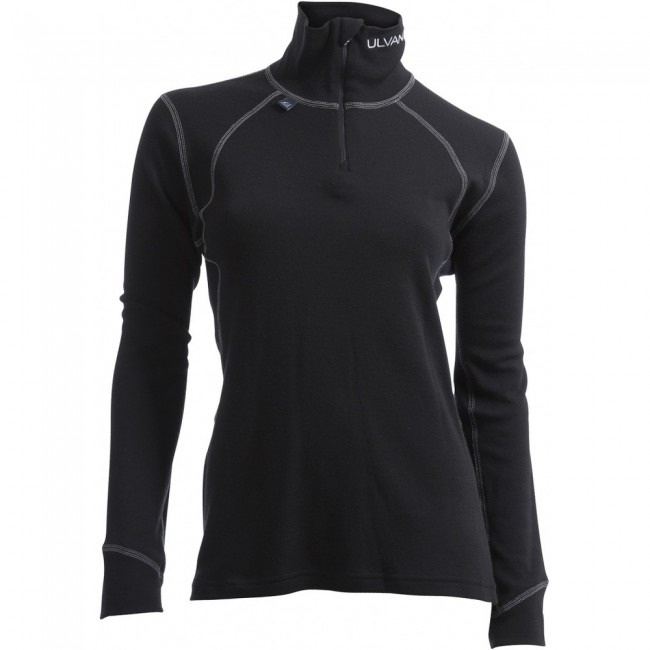 Ulvang Thermo Turtle neck w/zip Ws, damer, sort thumbnail