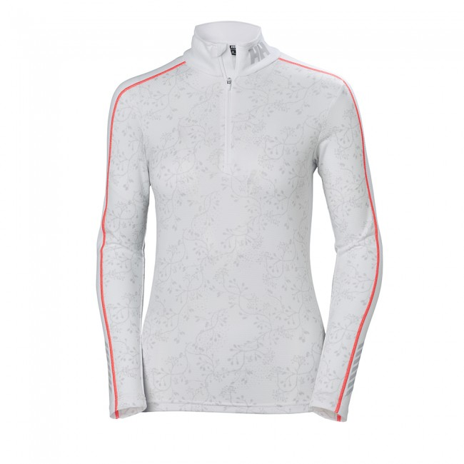 Helly Hansen Lifa Active Graphic 1/2 Zip, Dame, Hvid Skiundertøj Til Damer