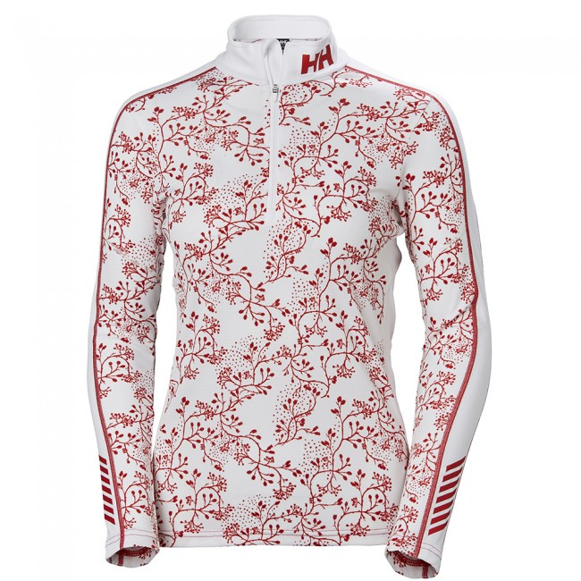 Helly Hansen W Lifa Active Graphic 1/2 Zip, dame, flag red thumbnail