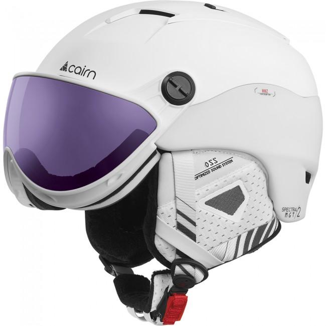 Cairn Spectral Visor Magnet 2 IUM, skihjelm med visir, white plum thumbnail