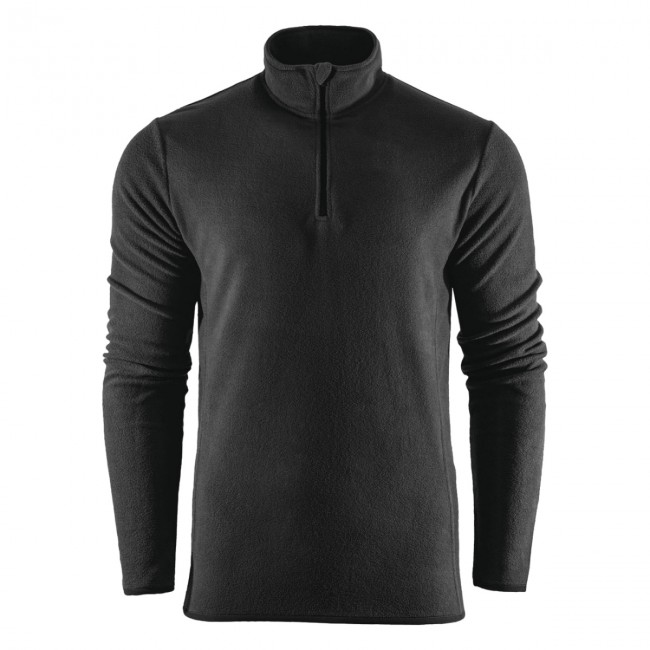 Outhorn Mideli 1/4 zip fleecepulli, børn/junior, sort thumbnail