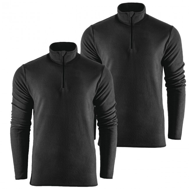 Outhorn Mideli 1/4 zip fleecepulli, børn/junior, sort, 2-pak thumbnail