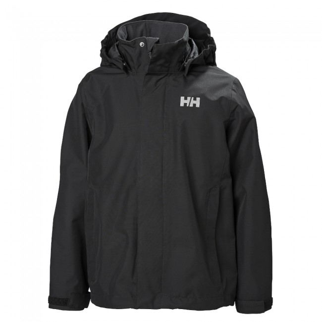 Helly Hansen JR Seven J, regnjakke, junior, sort thumbnail