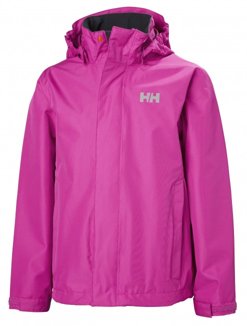 Helly Hansen JR Seven J, regnjakke, junior, pink thumbnail