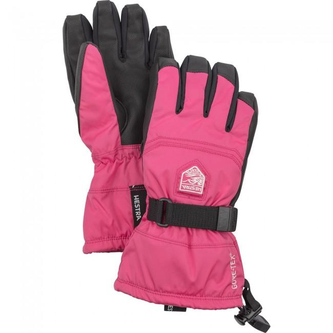 Hestra Gore-Tex Gauntlet skihandsker, junior, pink thumbnail