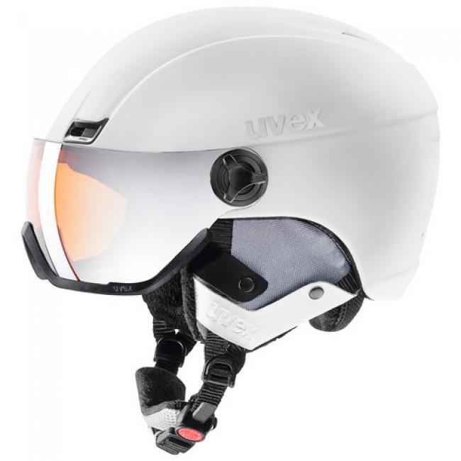 Uvex hlmt 400, skihjelm med visir, hvid thumbnail