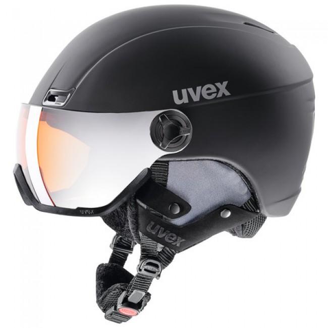 Uvex hlmt 400, skihjelm med visir, sort thumbnail