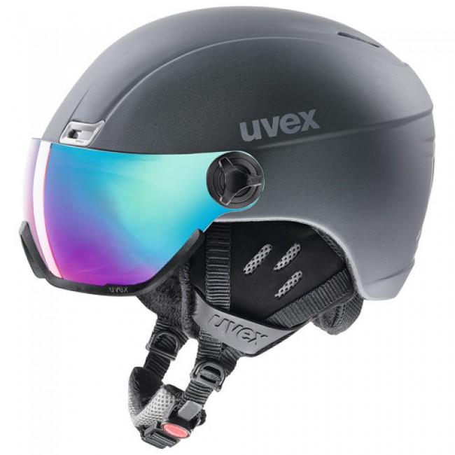 Uvex hlmt 400, skihjelm med visir, mørkeblå thumbnail