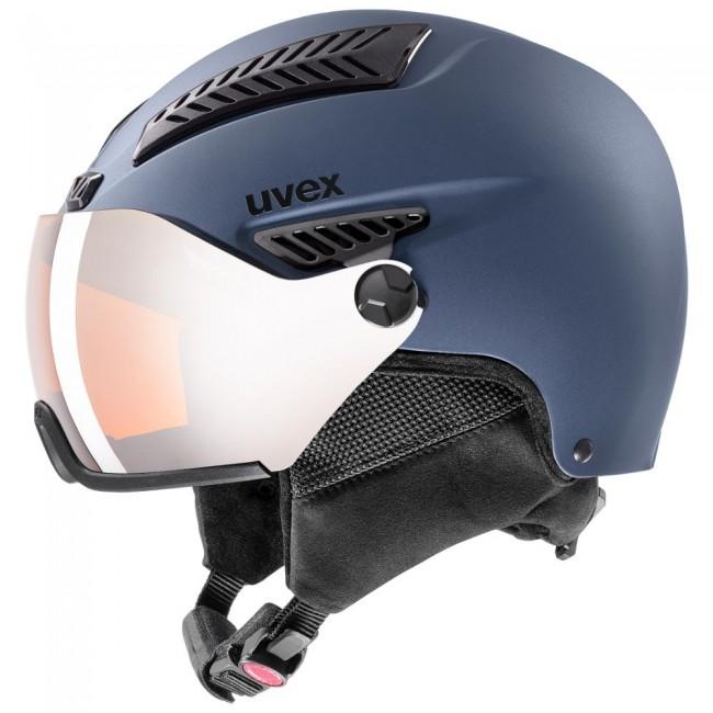 Uvex hlmt 600, skihjelm med visir, blå thumbnail