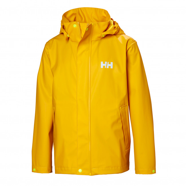 Helly Hansen Moss regnjakke, junior, gul thumbnail