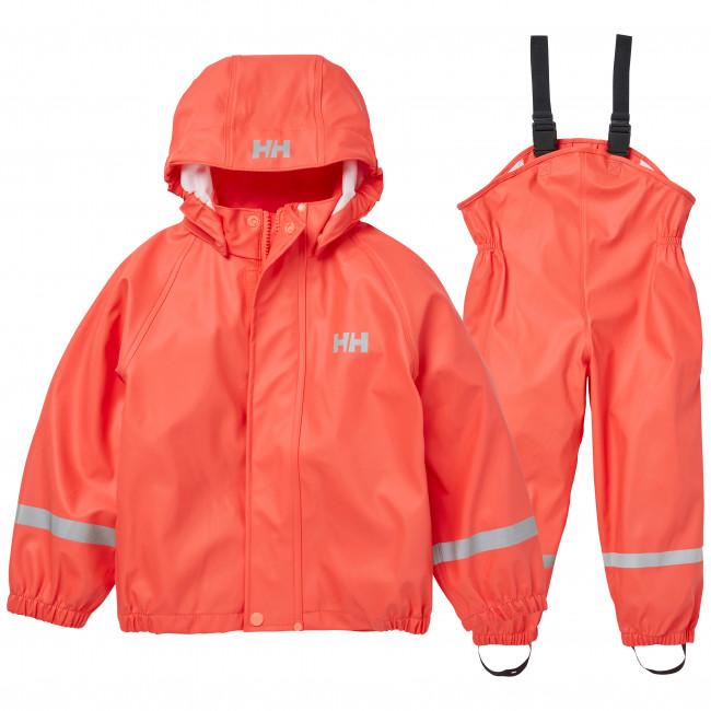Helly Hansen Bergen PU, regnsæt, børn, koral thumbnail