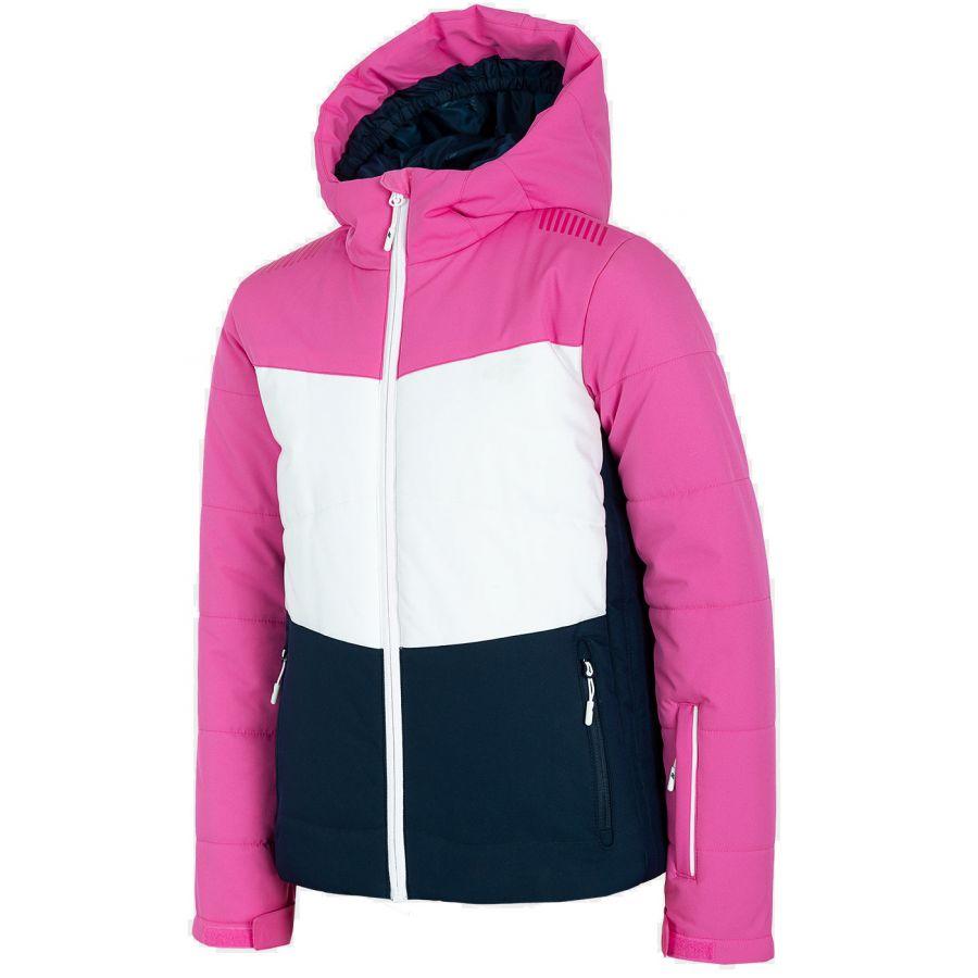 4F Anna, skijakke, junior, pink/mørkeblå