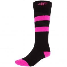 4F skistrømper, dame, sort