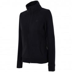 4F dame fleece jakke, sort
