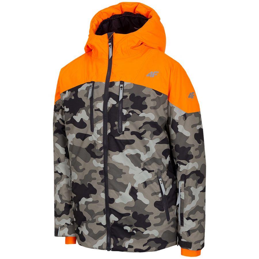 4F Oscar, skijakke, junior, camo orange