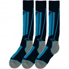 4F skistrømper, 3 par, junior, blå