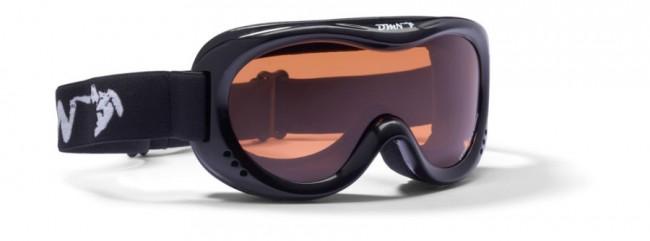 Demon Snow 6 skibriller, junior, sort thumbnail
