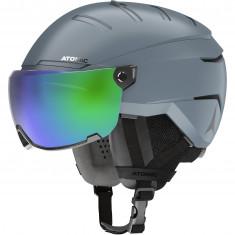 Atomic Savor GT Visor Stereo, skihjelm med visir, grå