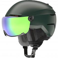 Atomic Savor Visor Stereo, skihjelm med visir, grøn