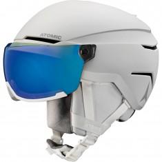 Atomic Savor Visor Stereo, skihjelm med visir, hvid