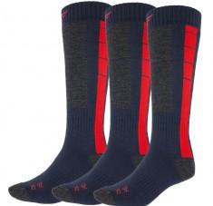 4F skistrømper, 3 par, herre, blå/rød