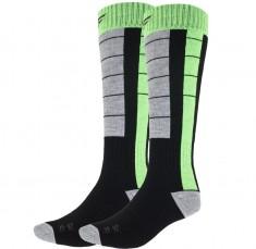 4F skistrømper, 2 par, herre, sort/grøn