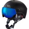 Cairn Eclipse Rescue, skihjelm med visir, mat hvid blå