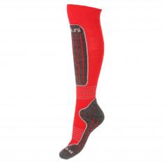 Deluni junior skistrømper, 1 par, rød