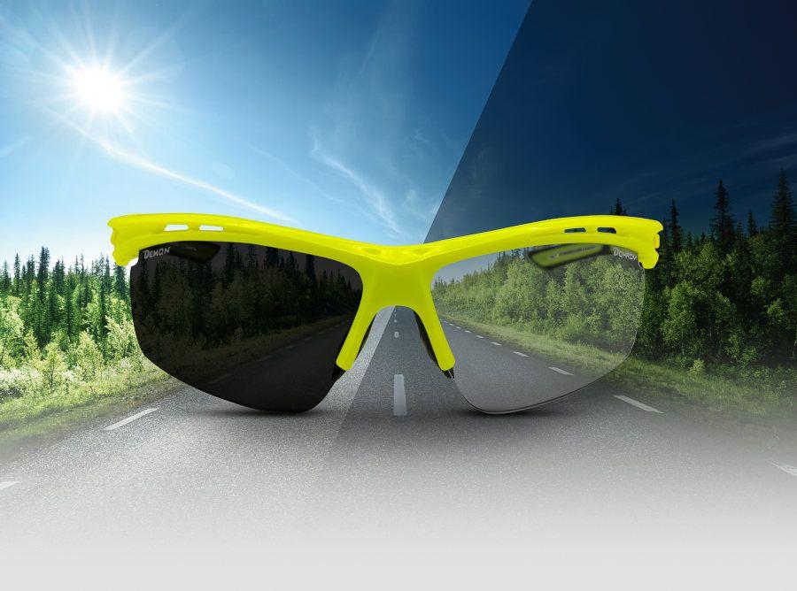 Demon Iron Photochromatic solbriller, grå/blå