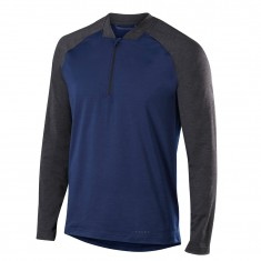 Falke 1/2 Zip Long Sleeved Shirt, herre mørkeblå