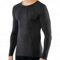 Falke Wool-Tech LS, herre, sort