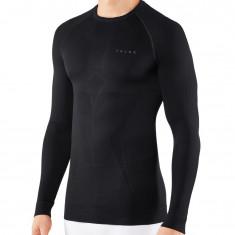 Falke Maximum Warm Longsleeved Shirt Tight Fit, herre, sort
