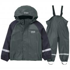 Helly Hansen Bergen PU, regnsæt, børn, grøn