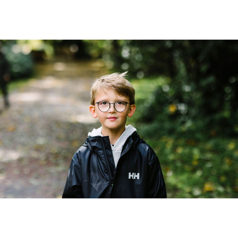 Helly Hansen Moss regnjakke, junior, sort