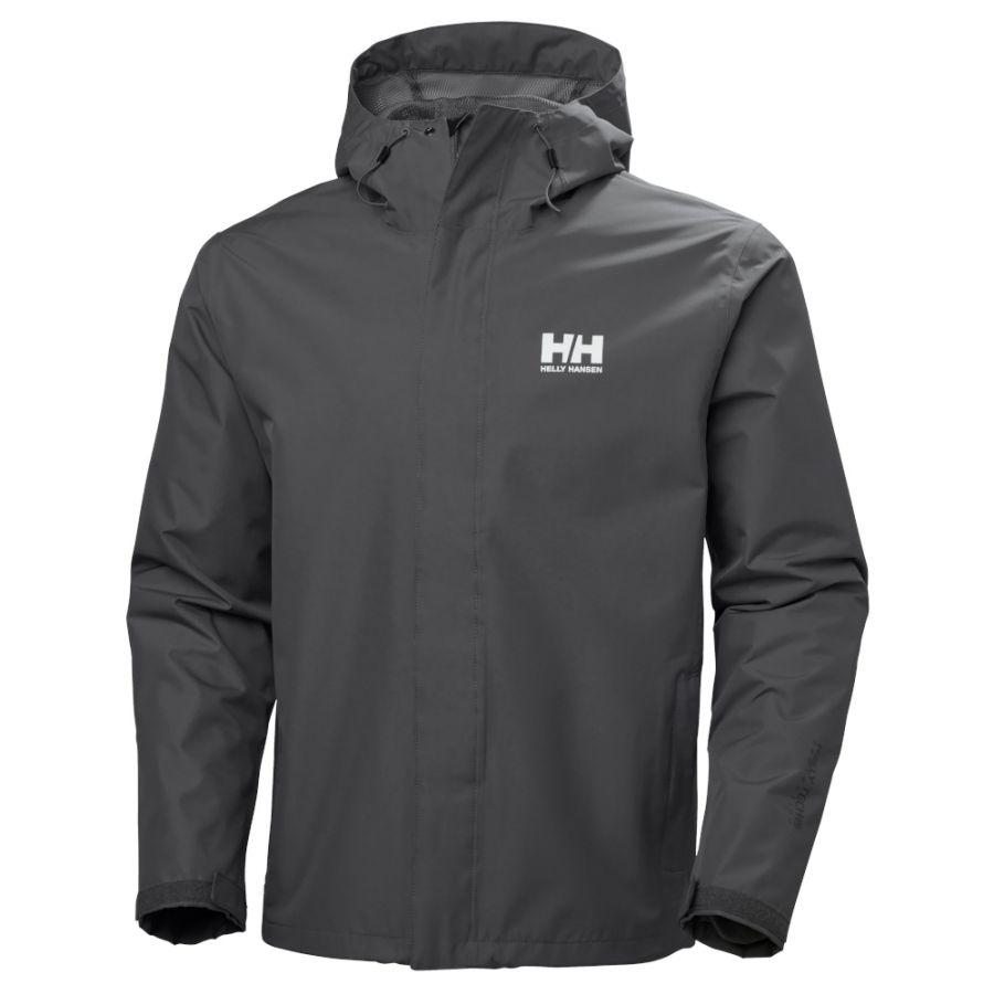 Helly Hansen Seven J, regnjakke herre, grå