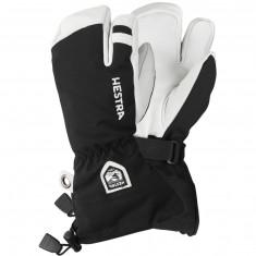 Hestra Army Leather Heli 3-finger skihandsker, junior, sort