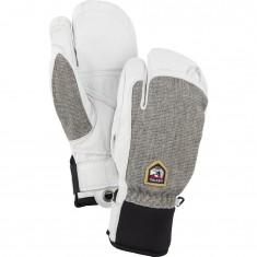 Hestra Army Leather Patrol 3-finger skihandsker, lysegrå