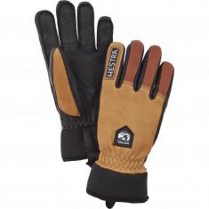 Hestra Army Leather Wool Terry skihandsker, kork/brun