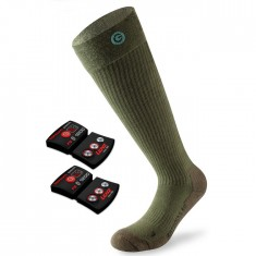 Lenz Heat Sock 4.0 + Lithium Pack, green