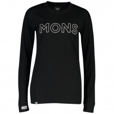 Mons Royale Yotei BF Tech LS, dame, sort