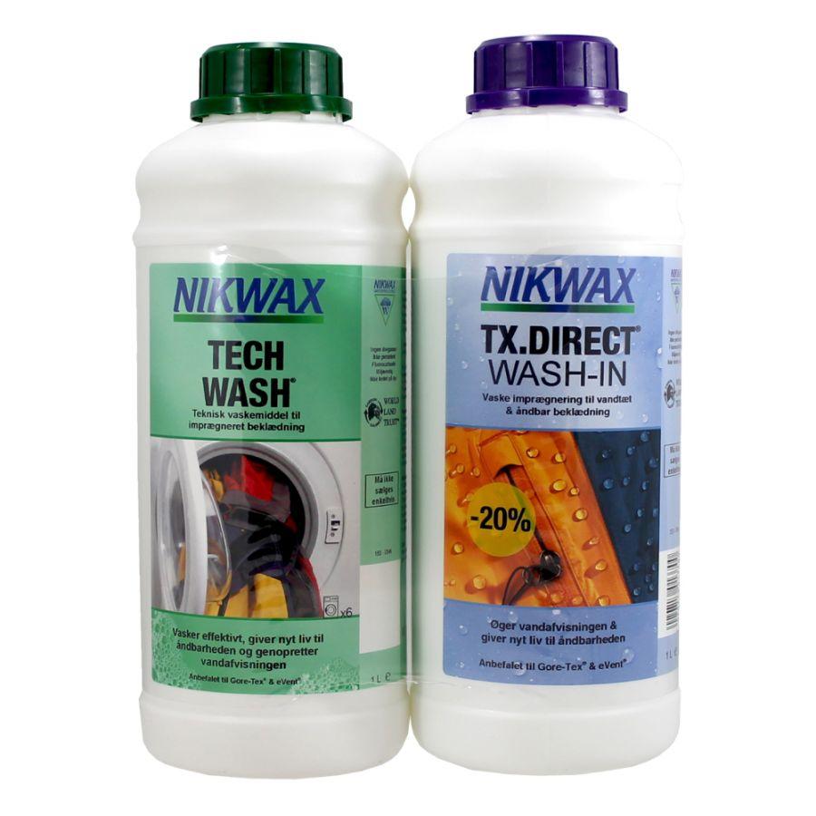Nikwax Twin pack, Tech Wash + TX-Direct, 2x1000 ml