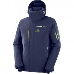 Salomon Brilliant JKT M, skijakke, herre, blå