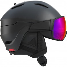 Salomon Driver, skihjelm med visir, black/red