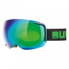 Uvex Big 40, skibriller, full mirror, sort/grøn
