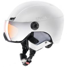 Uvex hlmt 400, skihjelm med visir, hvid