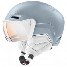 Uvex hlmt 700, skihjelm med visir, lyseblå