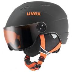 Uvex junior pro, skihjelm med visir, sort