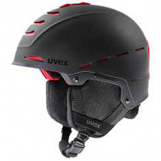 Uvex Legend Pro skihjelm, sort/rød